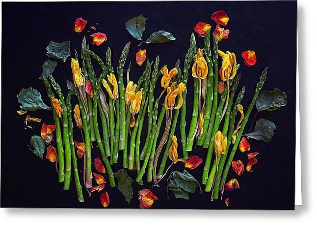 Think Spring Asparagus Greeting Card