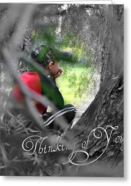 Greeting Card featuring the photograph Thinking Of You by Amanda Eberly-Kudamik