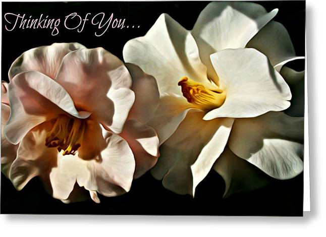 Thinking Of You Greeting Card By C J Anderson Greeting Card by CJ Anderson