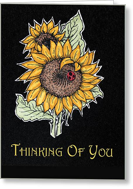 Thinking Of You Greeting Card by Jon Berghoff