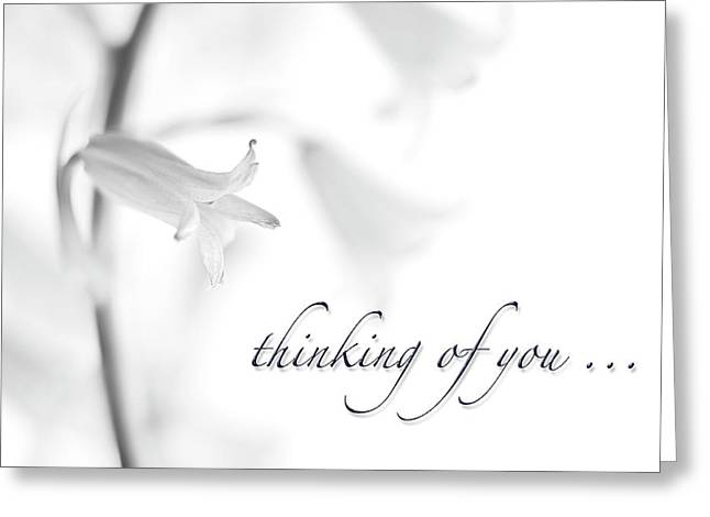 Thinking Of You Notecard Greeting Card by Carol Leigh