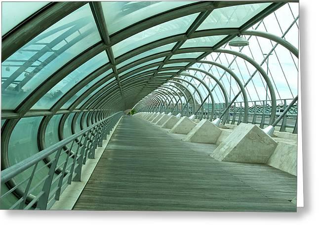 Third Millenium Bridge, Zaragoza, Spain Greeting Card