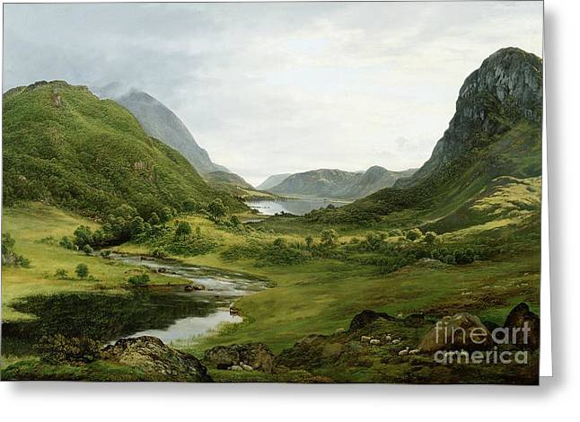 Thirlmere Greeting Card by John Glover