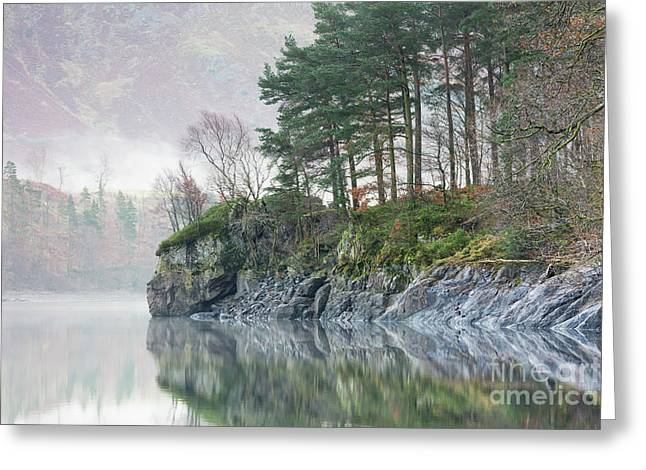 Thirlmere Outcrop Greeting Card by Tony Higginson