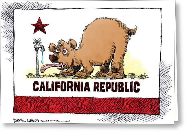 Thirsty California Flag Greeting Card