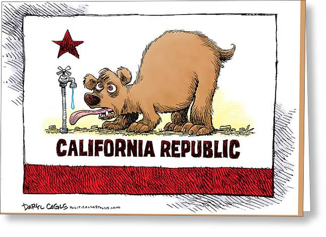 Thirsty California Flag Greeting Card