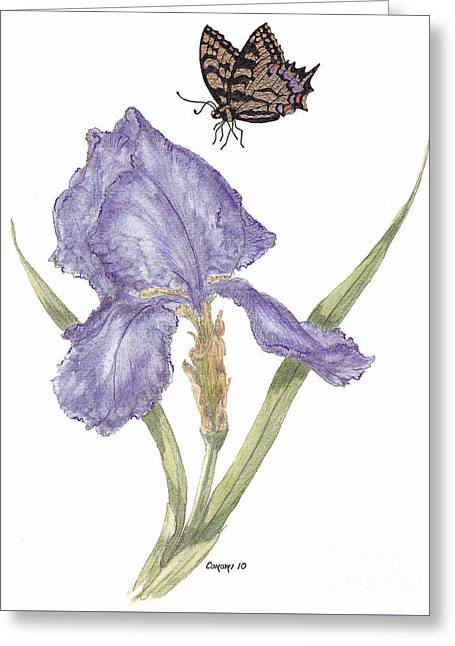 This Great Purple Butterfly Greeting Card by Stanza Widen
