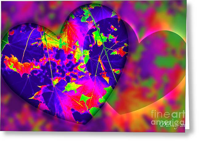 This Hearts For You Greeting Card by Donna Bentley