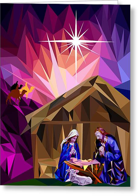 This Holy Night Greeting Card by James Bryson