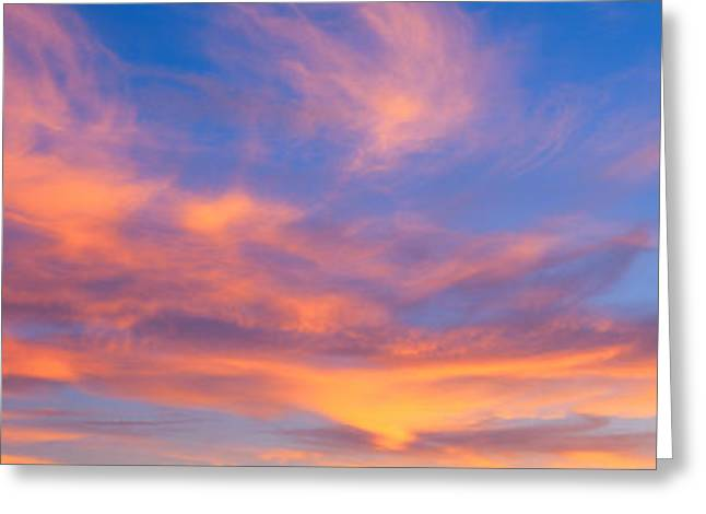 This Is A Sunset Sky Greeting Card by Panoramic Images
