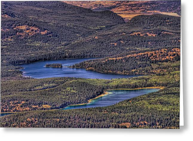 This Is Alberta No.18 - Pyramid And Patricia Lake Greeting Card by Paul W Sharpe Aka Wizard of Wonders