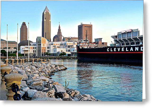 This Is Cleveland Greeting Card by Frozen in Time Fine Art Photography