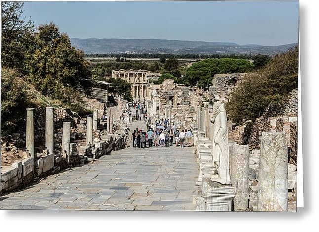 This Is Ephesus Greeting Card by Kathy McClure