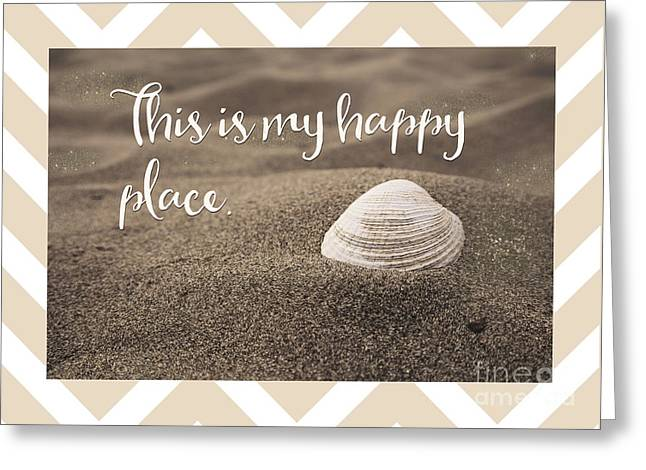 This Is My Happy Place,  Inspirational Beach Quote Greeting Card by Tina Lavoie