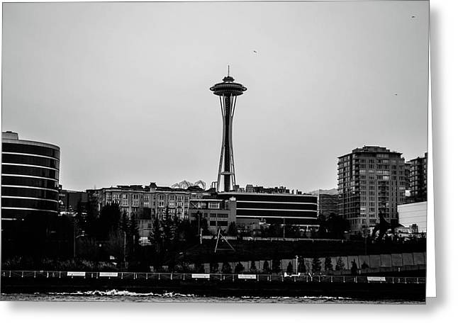 This Is Seattle Black And White Greeting Card