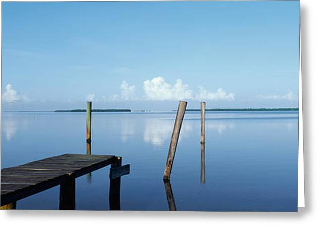 This Is The Morning View Of Pine Island Greeting Card by Panoramic Images