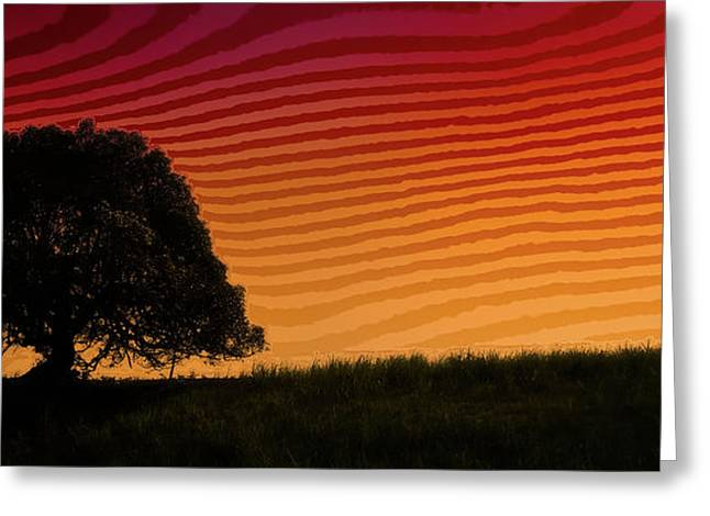 This Is The Philippines No.11 - Mango Tree Sunset Greeting Card by Paul W Sharpe Aka Wizard of Wonders