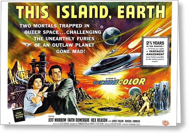 This Island Earth Science Fiction Classic Movie Greeting Card
