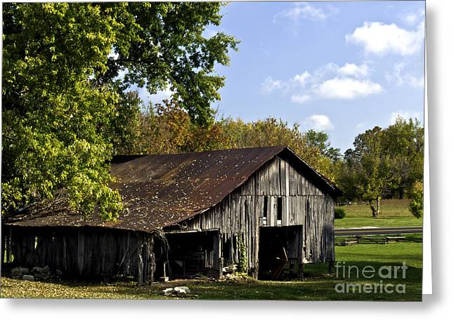 This Old Barn Greeting Card by Ken Frischkorn
