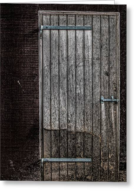 This Old Door Greeting Card by Odd Jeppesen
