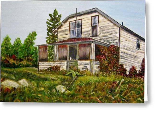 Greeting Card featuring the painting This Old House by Marilyn  McNish
