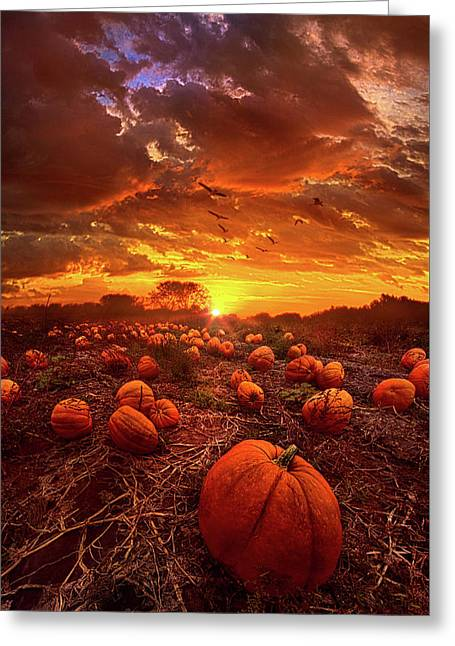 This Our Town Of Halloween Greeting Card by Phil Koch