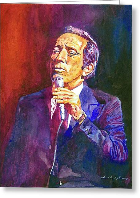 This Song Is For You - Andy Williams Greeting Card by David Lloyd Glover