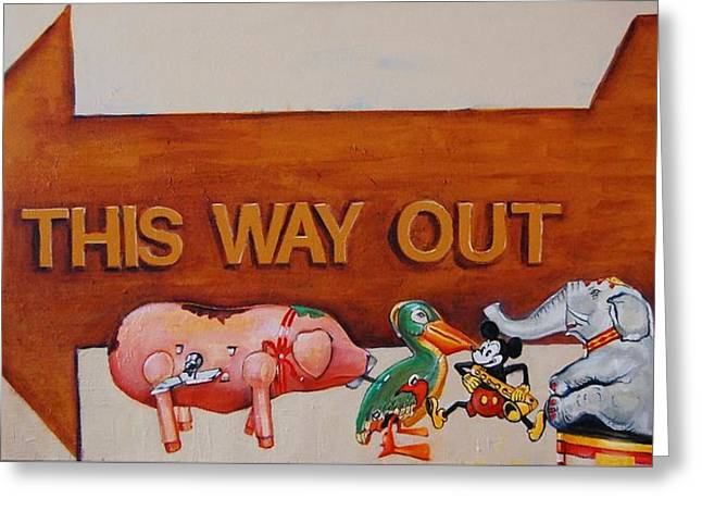 This Way Out Greeting Card