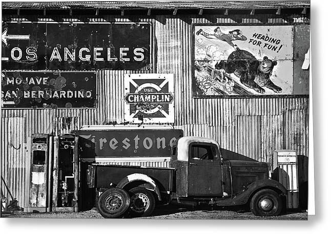 This Way To L.a. Greeting Card by Marius Sipa