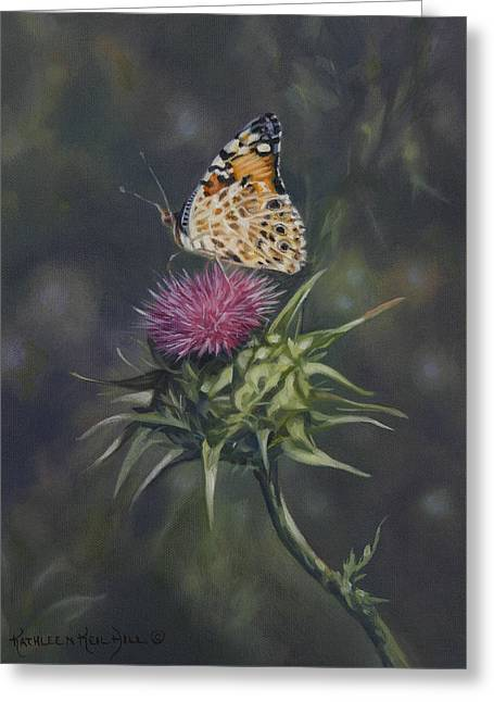 Thistle Dew Greeting Card by Kathleen  Hill