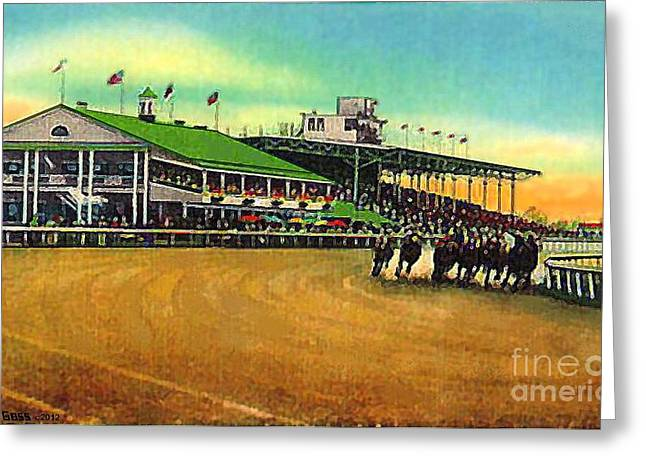 Thistledown Racetrack And Grandstand In Cleveland Oh  Greeting Card