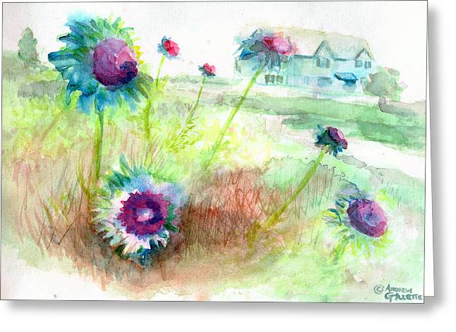 Thistles #1 Greeting Card
