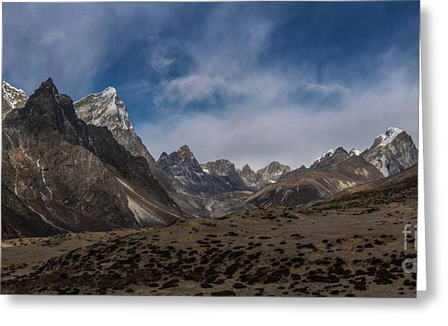 Greeting Card featuring the photograph Thokla Pass Nepal by Mike Reid