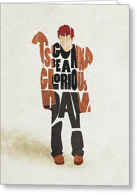 Thom Yorke Typography Art Greeting Card