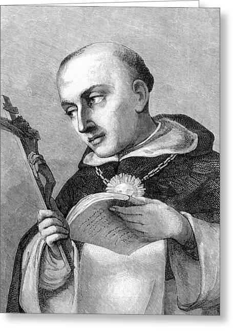 Thomas Aquinas, Italian Theologian Greeting Card by