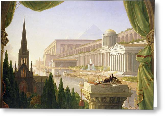 Thomas Cole Greeting Card by MotionAge Designs
