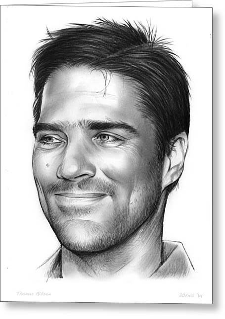 Thomas Gibson Greeting Card by Greg Joens