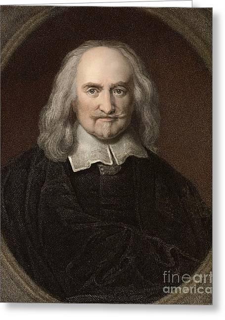 Thomas Hobbes, English Philosopher Greeting Card