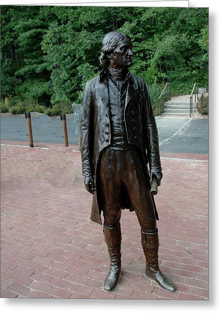 Recently Sold -  - Statue Portrait Greeting Cards - Thomas Jefferson at Monticello Greeting Card by LeeAnn McLaneGoetz McLaneGoetzStudioLLCcom