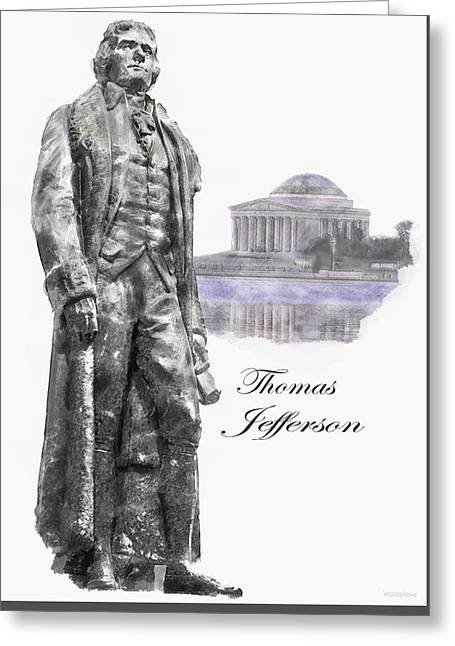 Thomas Jefferson Greeting Card by Mark Stephens