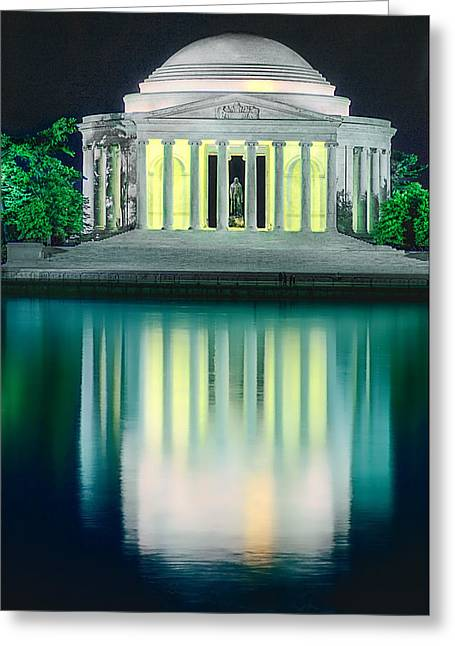 Thomas Jefferson Memorial At Night Greeting Card