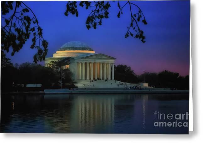Thomas Jefferson Memorial Sunset Greeting Card