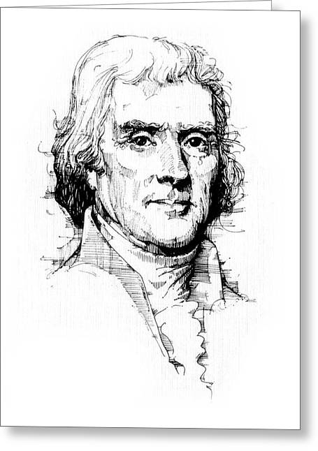 Thomas Jefferson Greeting Card by Michael Johnson