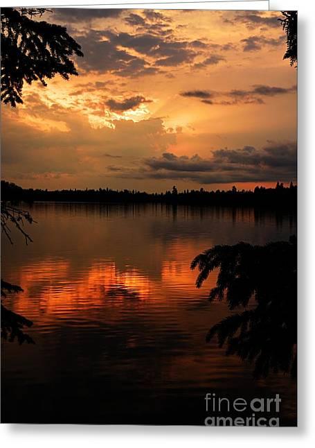 Thomas Lake Sunset Greeting Card