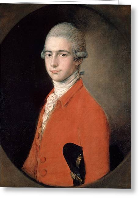 Thomas Linley The Younger Greeting Card by Thomas Gainsborough