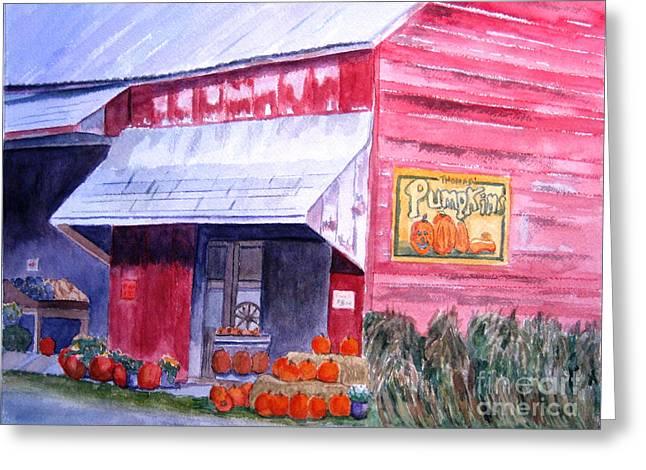 Thomas Market Greeting Card by Lynne Reichhart