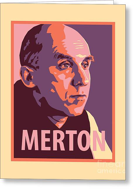 Thomas Merton - Jltme Greeting Card