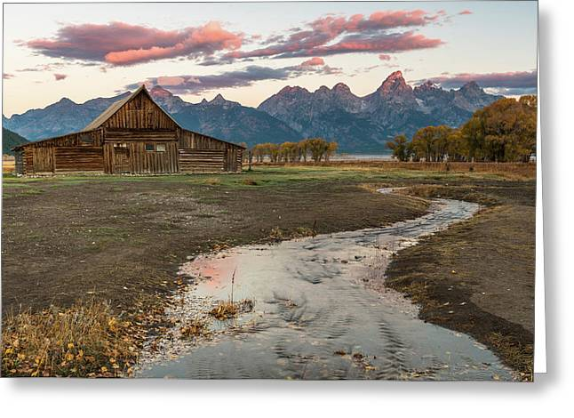 Greeting Card featuring the photograph Thomas Moulton's Barn by Chuck Jason