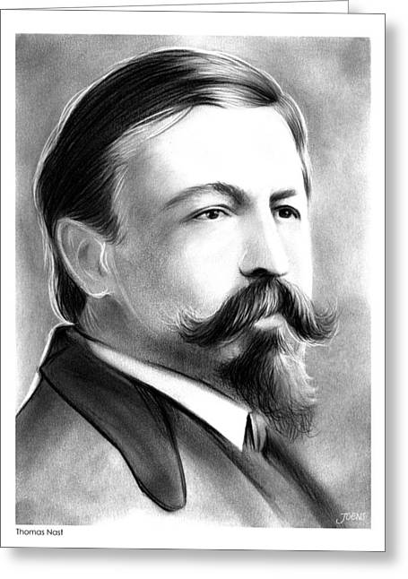 Thomas Nast Greeting Card by Greg Joens