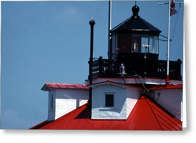 Thomas Point Shoal Ligthhouse In Md Greeting Card by Skip Willits